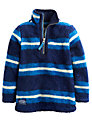 Little Joule Boys' Stripe Fleece, Blue