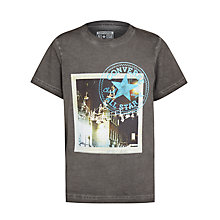 Buy Converse Boys' Vintage Photo T-Shirt, Grey Online at johnlewis.com