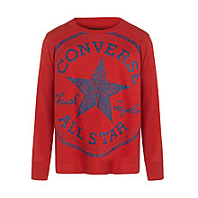 Buy Converse Boys' Star Logo Long Sleeve Top Online at johnlewis.com