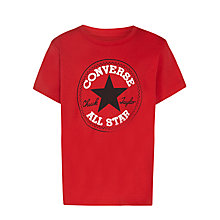 Buy Converse Boys' Chuck Taylor Logo T-Shirt, Red Online at johnlewis.com