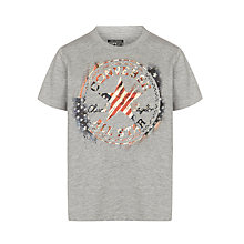 Buy Converse Boys' Vintage US Flag Print T-Shirt, Grey Online at johnlewis.com