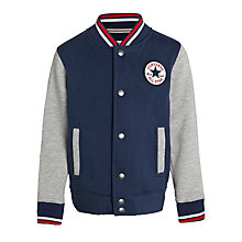 Buy Converse Boys' Baseball Jacket, Navy/Grey Online at johnlewis.com