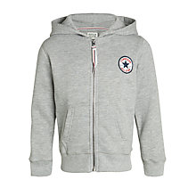 Buy Converse Logo Zip Hoody, Grey Online at johnlewis.com
