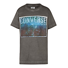 Buy Converse Boys' Graphic T-Shirt, Grey Online at johnlewis.com