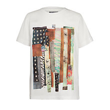 Buy Converse Boys' Patchwork  Flag T-Shirt, White Online at johnlewis.com