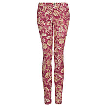 Buy Mango Printed Slim Fit Trousers, Bright Red Online at johnlewis.com