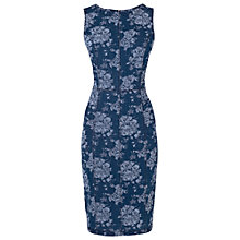 Buy Phase Eight Lola Floral Denim Dress, Indigo/White Online at johnlewis.com