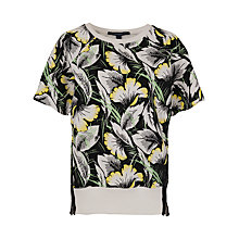 Buy French Connection Hot House Tropical Top, Black Multi Online at johnlewis.com