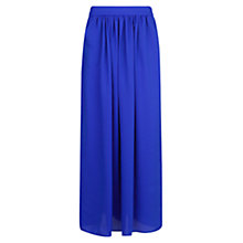 Buy Mango Long Satin Skirt, Bright Blue Online at johnlewis.com