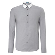 Buy Kin by John Lewis Contrast Club Collar Shirt, Grey/White Online at johnlewis.com