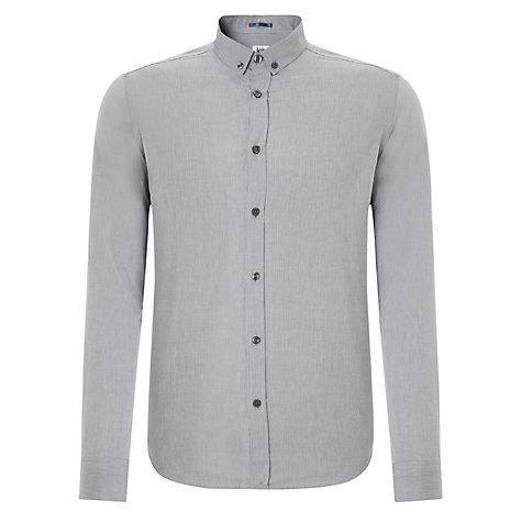 Buy Kin by John Lewis Button Down Itsy Stripe Shirt, Blue Online at johnlewis.com