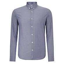Buy Kin by John Lewis Button Down Fine Stripe Shirt, Grey Online at johnlewis.com