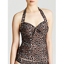 Buy John Lewis Leopard Tankini Top, Animal Online at johnlewis.com