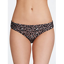 Buy John Lewis Leopard Bikini Briefs, Animal Online at johnlewis.com