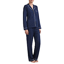 Buy John Lewis Carrie Spot Pyjama Set, Navy Online at johnlewis.com