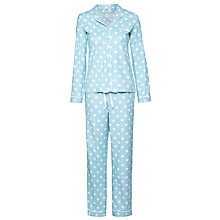 Buy Cath Kidston Button Spot Pyjama Gift Set, Blue Online at johnlewis.com