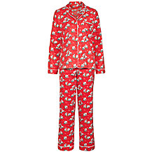 Buy Cath Kidston Christmas Billie Print Pyjama Gift Set, Red Online at johnlewis.com