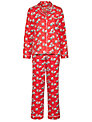 Cath Kidston Christmas Billie Print Pyjama Gift Set, Red