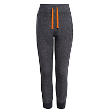 Buy John Lewis Boy Flecked Joggers, Black/Orange Online at johnlewis.com