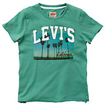 Buy Levi's Boys' Anthony T-Shirt, Green Online at johnlewis.com
