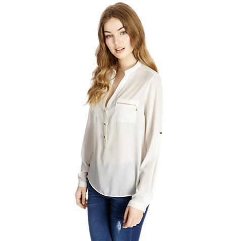 Buy Oasis Zip Pocket Shirt Online at johnlewis.com