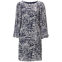 Buy Adrianna Papell Pleated Sleeve Dress, Navy Silver Online at johnlewis.com