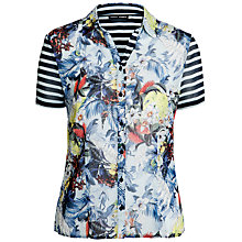 Buy Gerry Weber Print & Stripe Shirt, Multi Online at johnlewis.com