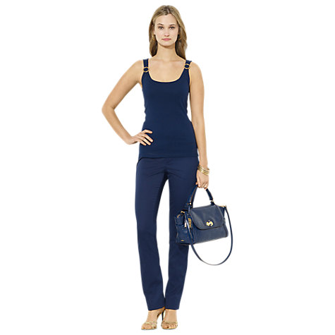 Buy Lauren Ralph Lauren Farir Trousers, San Remo Navy Online at johnlewis.com