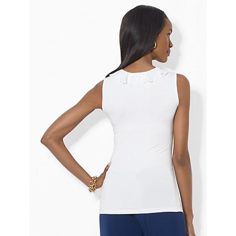 Buy Lauren Ralph Lauren Ruffled Top, White Online at johnlewis.com
