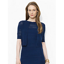 Buy Lauren Ralph Lauren Pointelle-Knit Cotton Sweater, San Remo Navy Online at johnlewis.com