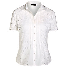 Buy Gerry Weber Broderie Blouse, White Online at johnlewis.com