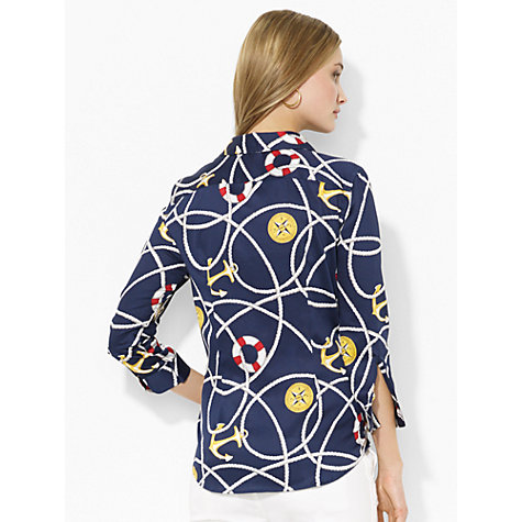 Buy Lauren Ralph Lauren Anchor-Patterned Cotton Shirt, Multi Online at johnlewis.com