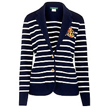 Buy Lauren Ralph Lauren Cotton Blazer, San Remo Navy/White Online at johnlewis.com
