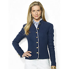 Buy Lauren Ralph Lauren Slim-Fit Linen Jacket, San Remo Navy Online at johnlewis.com