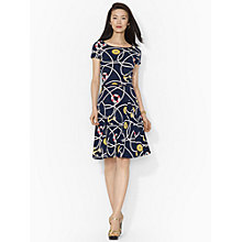 Buy Lauren Ralph Lauren Anchor-Patterned Cotton Dress, Multi Online at johnlewis.com