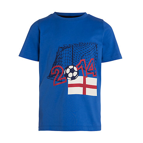 Buy John Lewis Children's 2014 Short Sleeve T-Shirt, Blue Online at johnlewis.com
