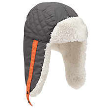 Buy John Lewis Trapper Hat, Grey Online at johnlewis.com