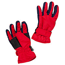Buy John Lewis Ski Gloves, Red Online at johnlewis.com