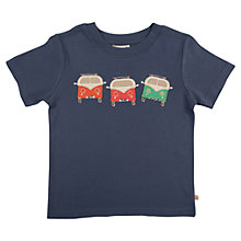 Buy Frugi Boys' Campervan T-Shirt, Blue Online at johnlewis.com