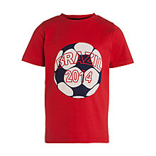 Buy John Lewis Children's Brazil Short Sleeve T-Shirt, Red Online at johnlewis.com