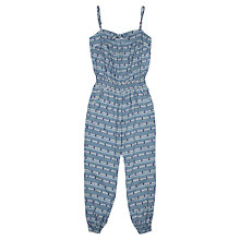 Buy Jigsaw Junior Girls' Diamond Jumpsuit, Blue Online at johnlewis.com