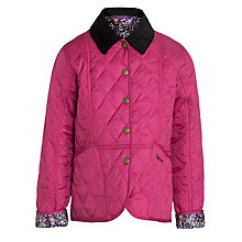 Buy Barbour Girls' Liddesdale Daisychain Print Trim Jacket, Pink Online at johnlewis.com