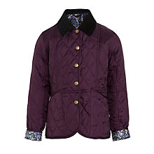 Buy Barbour Girls' Liddesdale Daisychain Print Trim Jacket, Purple Online at johnlewis.com
