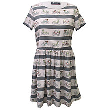 Buy Sugarhill Boutique Bike Stripe Smock Dress, Cream/Charcoal Online at johnlewis.com