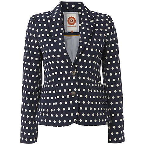 Buy White Stuff Spot Jasper Blazer, Dark Regatta Online at johnlewis.com