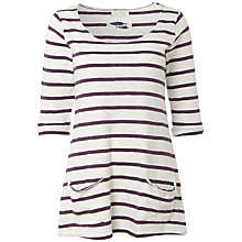 Buy White Stuff Chesil Stripe T-Shirt, Dark Thistle Online at johnlewis.com