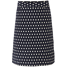 Buy White Stuff Jacquard Spot Skirt, Dark Regatta Online at johnlewis.com