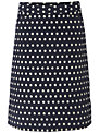 White Stuff Jacquard Spot Skirt, Dark Regatta