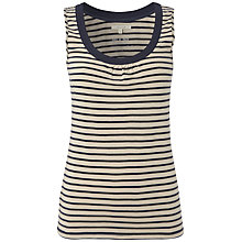 Buy White Stuff Stripe Loopy Scoop Vest Top, Navy Online at johnlewis.com