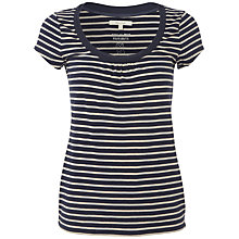 Buy White Stuff Stripe Lana T-Shirt, Navy Online at johnlewis.com
